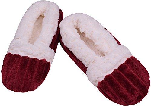 Warm Women Slippers Fashion Non Slip Shoes for House Soft Sole Slipper Wine