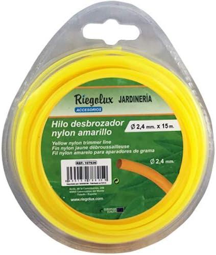 Riegolux 107641 Hilo Desbrozadora Nylon Redonda, Amarillo, 2 mm x 20 m: Amazon.es: Jardín