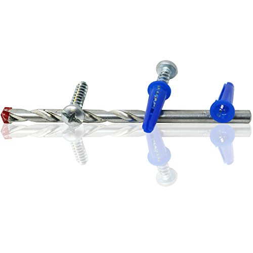 T.K.Excellent Blue Conical Plastic Anchor and Self Tapping Screw and Masonry Drill Bit,201 Pieces by T.K.excellent (Image #5)