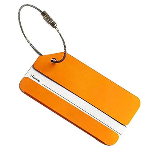Balight Para Identificación Dorado Etiquetas Simple Estilo Viaje Accesorios Tarjeta De Maleta Equipaje OwZOq7p
