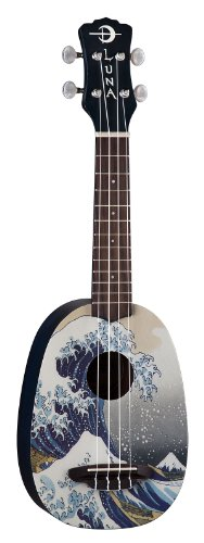 Luna Ukulele Great Wave Soprano with Gig Bag