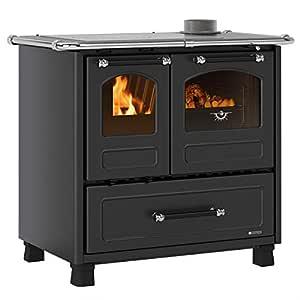 La Nordica 7014001 Family 4,5 Cocina Horno Acero Negro/A: Amazon ...