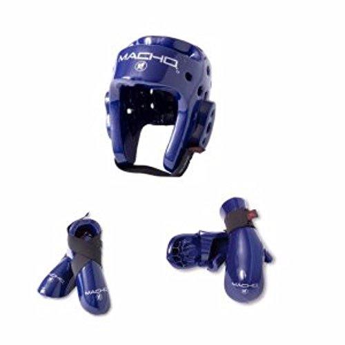(Macho Dyna 5 piece sparring gear set blue child medium )