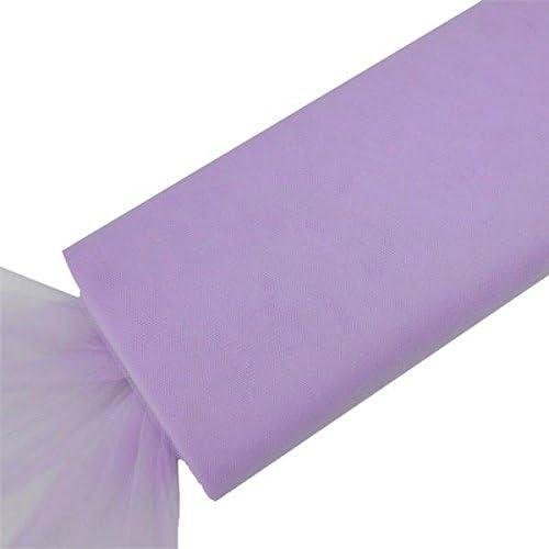 "Purple TULLE NET FABRIC 54/"" wide x 40 yards Bolt Craft Sewing DIY Put-up Wedding"