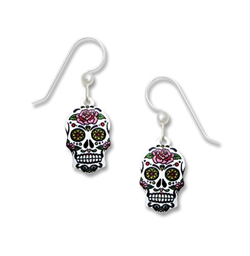 Sienna Sky UV-Printed Sugar Skull Day of the Dead Earrings 1982 - Spirit Halloween New Orleans