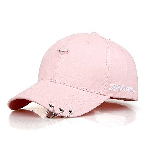 Kokkn BTS Baseball Cap K-pop Bangtan Boys Outdoor Iron Ring Snapback Hat Casual Adjustable Dad Hat Hip Hop Hat (Iron Rings Pink 02) (Iron Mens Ring)