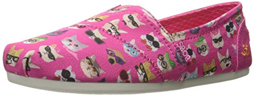 BOBS from Skechers Women's Plush - Kitty  Flat, Hot Pink Kitty , 6 M US - Hot Pink Kitty