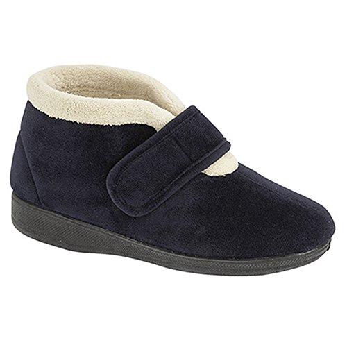 Pantofole / Pantofole Da Donna Amelia Bootie Blu Scuro