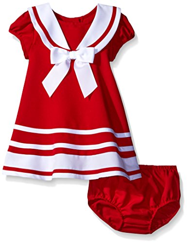 [Bonnie Baby Girls' Dress, Red Nautical, 12 Months] (Baby Easter Dresses)