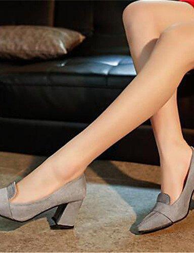 GGX/ Damenschuhe-High Heels-Büro / Lässig-Kunststoff-Blockabsatz-Absätze-Schwarz / Grau gray-us8.5 / eu39 / uk6.5 / cn40