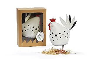 Decoración soporte Helga pollo gallina decorativo con caja de regalo