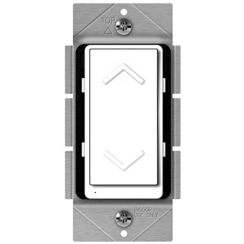 Ge Home Automation - Enerwave ZW500DM-PLUS Z-Wave Dimmer, Smart Dimmer Switch for Z-Wave Home Automation, Z-Wave Plus Dimmer Switch with Smart Meter Energy Monitor, Neutral Wire Required, Interchangeable Face Covers