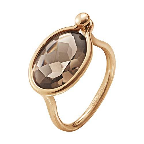 Georg Jensen Denmark 18K Rose Gold SAVANNAH Ring with Smokey Quartz Medium New