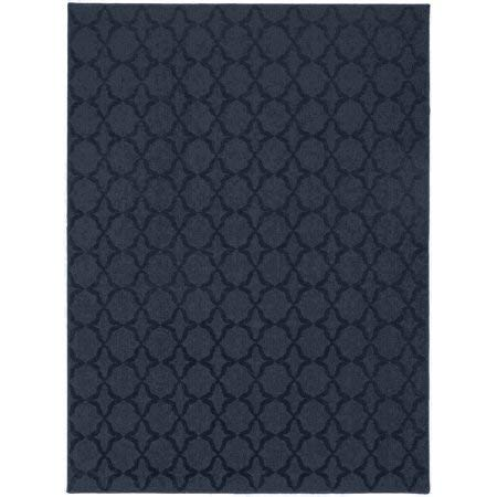 (Sparta Collection Area Rug Equally at Home in Casual, Contemporary and Traditional Settings (5 x 7) (Indigo/Ivory))