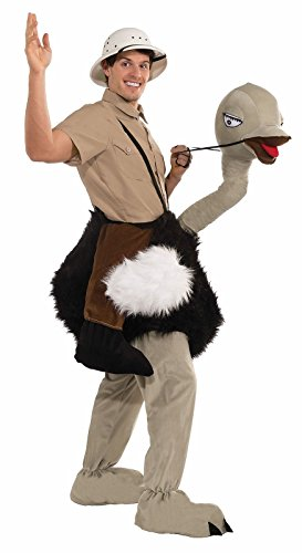 Forum Novelties Men's Riding An Ostrich Plush Mascot Costume, Multi Colored, One Size ()