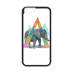 iPhone 6 Plus 5.5 Inch Phone Case Covers Black elephant 4 FGM Custom Phone Cases Clear