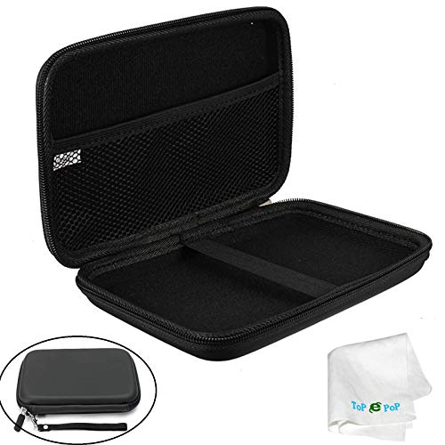 """7"""" Inch GPS Case Hard Protective Pouch Carrying Case GPS Bag Cover Travel Bag Compatible with Garmin Nuvi 2797lmt 2798LMT 2757LM Dezl 760lmt 6"""" 7"""" Inch Navigator Magellan Tomtom GPS Devices Black"""