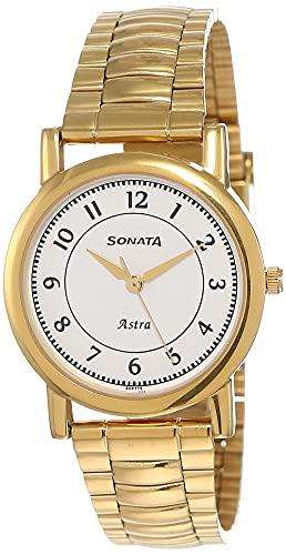 Sonata Analog White Dial Men #39;s Watch NM77049YM03/NN77049YM03