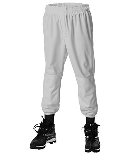 Alleson Ahtletic Youth Pull on Baseball Pants, Grey, X-Large (Knit Needle 13inch Set)