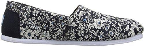Toms Classic Navy Floral Donna Canvas Espadrillas Scarpe Slipons
