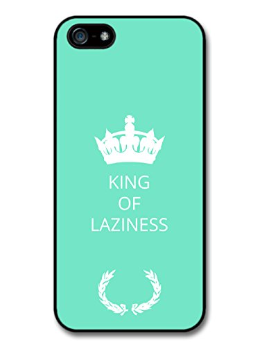 New Funny King of Laziness Gift Idea on Light Green Design coque pour iPhone 5 5S