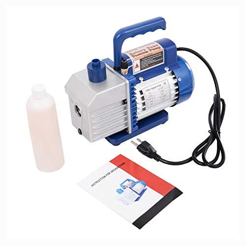 HVAC Controls, Single Stage 1/3HP 5CFM Rotary Vane Deep Vacuum Pump HVAC AC Air Tool R134 R410a ()