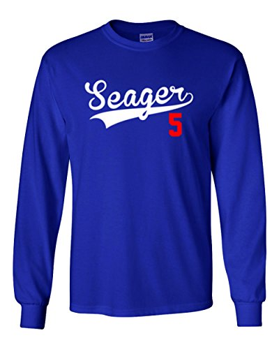 The Silo Long Sleeve Blue Los Angeles  Seager 5  T Shirt Adult