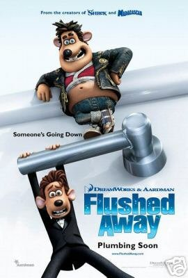 (Flushed Away Double Sided Original Movie Poster 27x40)
