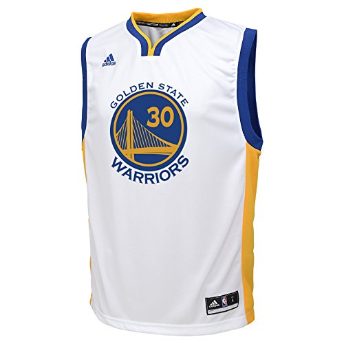(NBA Golden State Warriors Stephen Curry Youth 8-20 Replica Home Jersey, X-Large, White)