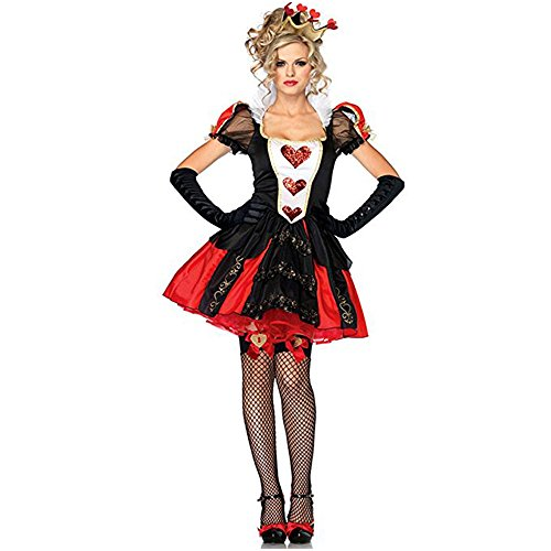 The Witch Red Heart Queen Costume - Halloween Costume - role play Cosplay costumes - Alice nightclub stage outfit - Queen Of Hearts Halloween Costume Makeup