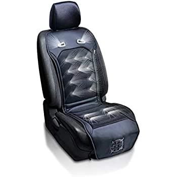 Zone Tech Cooling Car Seat Cushion - Classic Black 12V Automotive Comfortable Cooling Car Seat Cushion Perfect for Summer, Road Trips, and Many More