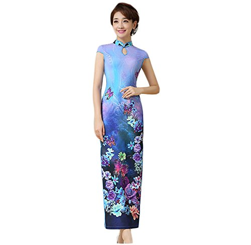 600438509aff EXCELLANYARD Womens Qipao Cheongsam Dress product image