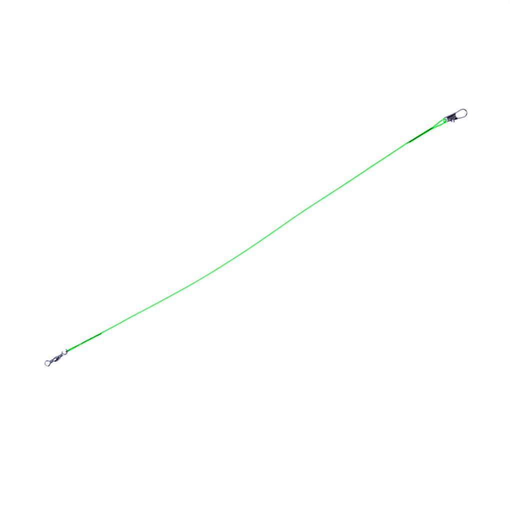 Laileya 10pcs l/ínea de Pesca de Acero l/íder del Alambre de Pesca giratoria Accesorios Leadcore Correa del mar Ca/ña de Pescar L/ínea