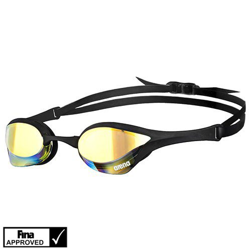 Arena Cobra Ultra Mirror Racing Goggles Yellow Revo/Black/Black