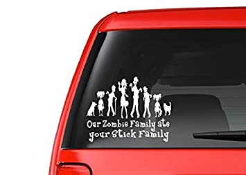 """Zombie Kid Girl Teen Daughter Family Car Decal Sticker  /""""The Walking Dead/"""""""