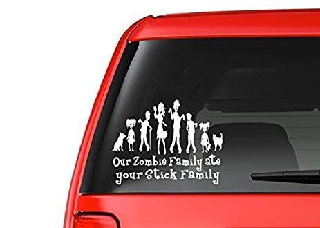 Amazoncom Zombie Family F Vinyl Decal Sticker CarTruck - Family decal stickers for carscar truck van vehicle window family figures vinyl decal sticker