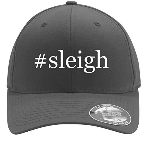 #Sleigh - Adult Men's Hashtag Flexfit Baseball Hat Cap, Silver, Large/X-Large