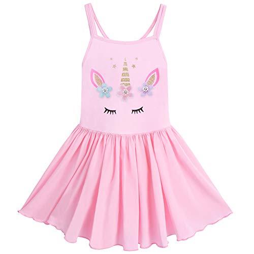 Toddler Kid Girl Unicorn Flower Ballet Dress Ballerina Skirted Leotard Praise Liturgical Worship Lyrical Mime Christan Spiritual DanceCelebration of Spirit Pink 5-6 Years