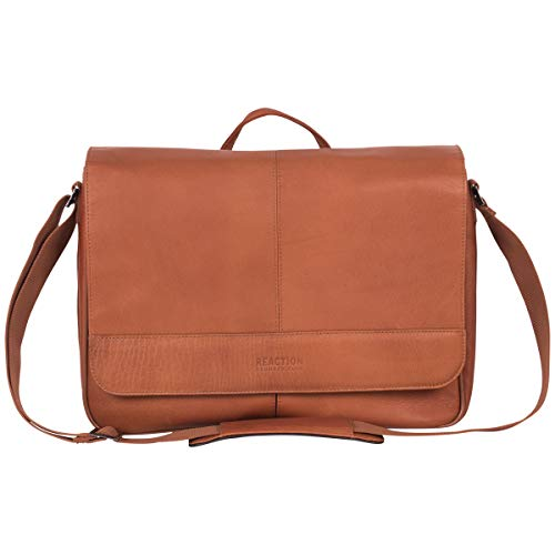 Kenneth Cole Reaction Laptop Messenger Bag, Cognac (Cowhide Leather Briefs)