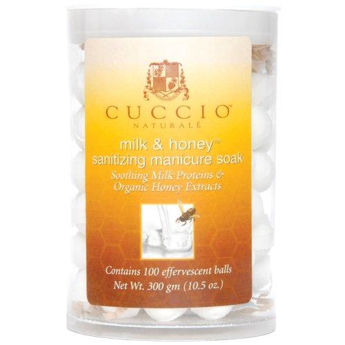 Manicure Balls - Cuccio Sanitizing Soak, Milk and Honey, 100 Count