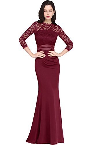3 4 sleeve evening dresses - 8