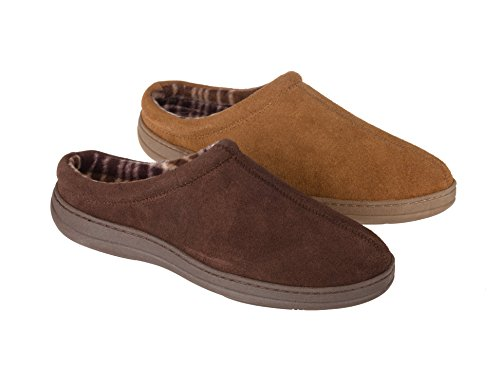 Rockport Memory Foam Suede Slip On Clog Indoor / Outdoor Men's Slippers (13, Brown)