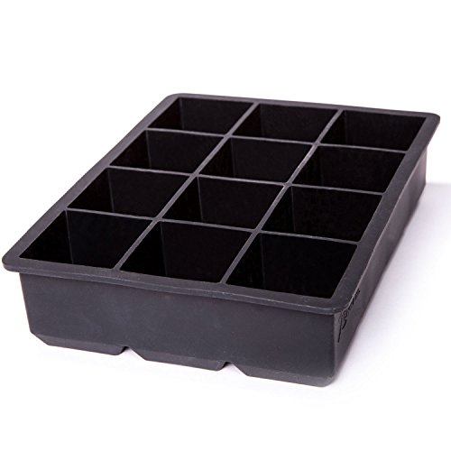Brownie Pops (Zenware Silicone Extra Large 2 Inch 12 Ice Cubes Tray Mold)