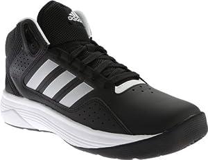 adidas NEO Men's Cloudfoam Ilation Mid Wide Basketball Shoe, black/Matte Silver/White, 15 W US