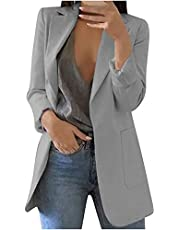 Cardigan Blazers for Women Plus Size Casual Fall Work Office Fall Jacket Long Sleeve Fitted Pockets Thin Dressy Suits