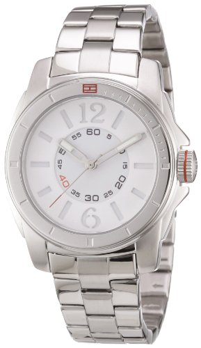 Tommy Hilfiger Women's 1781138 Silver Stainless-Steel Analog Quartz Watch with Silver Dial
