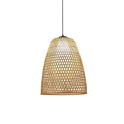 ANDEa Lámparas de bambú, cafetería Cibercafés Iluminación de la habitación del hotel Lámparas de ratán