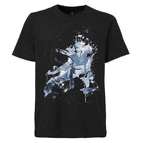 Kung_Fu_I schwarzes modernes Herren T-Shirt mit stylischen Aufdruck