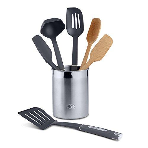 - Calphalon 7-Piece Gourmet Mixed Kitchen Utensil Set