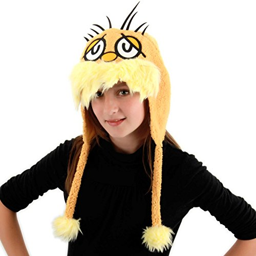 Elope Dr. Seuss Lorax Hoodie Hat, Yellow, One (Lorax Costumes For Kids)